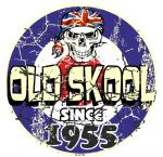 Distressed Aged OLD SKOOL SINCE 1955 Mod Target Dated Design Vinyl Car sticker decal  80x80mm